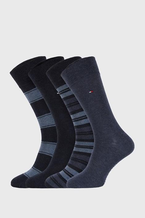 4 PACK plavih čarapa Tommy Hilfiger