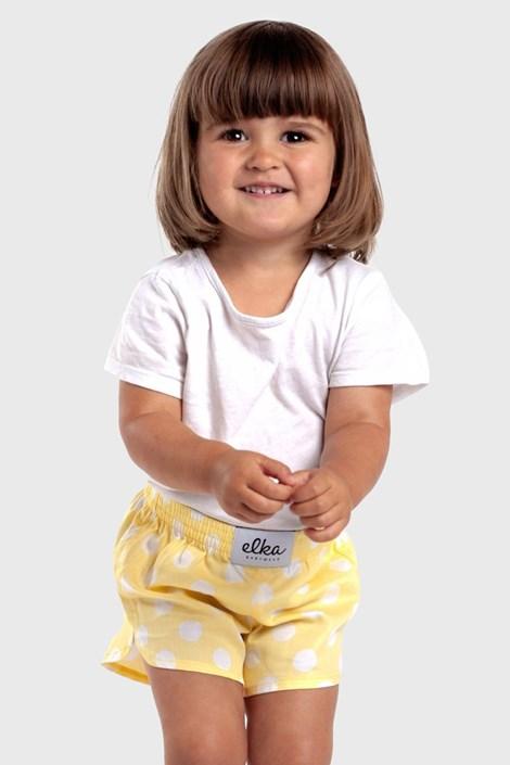 Dječje bokserice ELKA LOUNGE na žute točkice