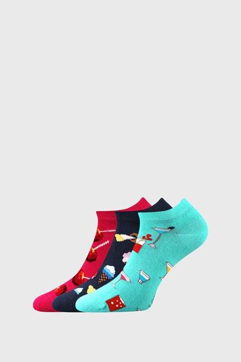 3 PACK ženskih čarapa sa slatkišima