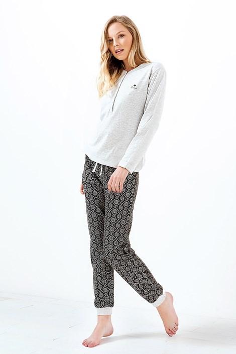 Ženska pidžama Charlotte melange