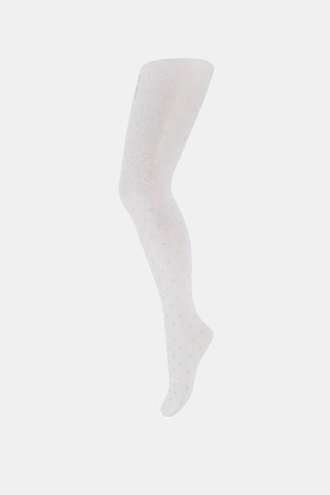 Čarape s gaćicama za djevojčice Dots bijele