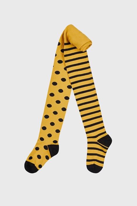 Čarape s gaćicama za djevojčice žute točkaste